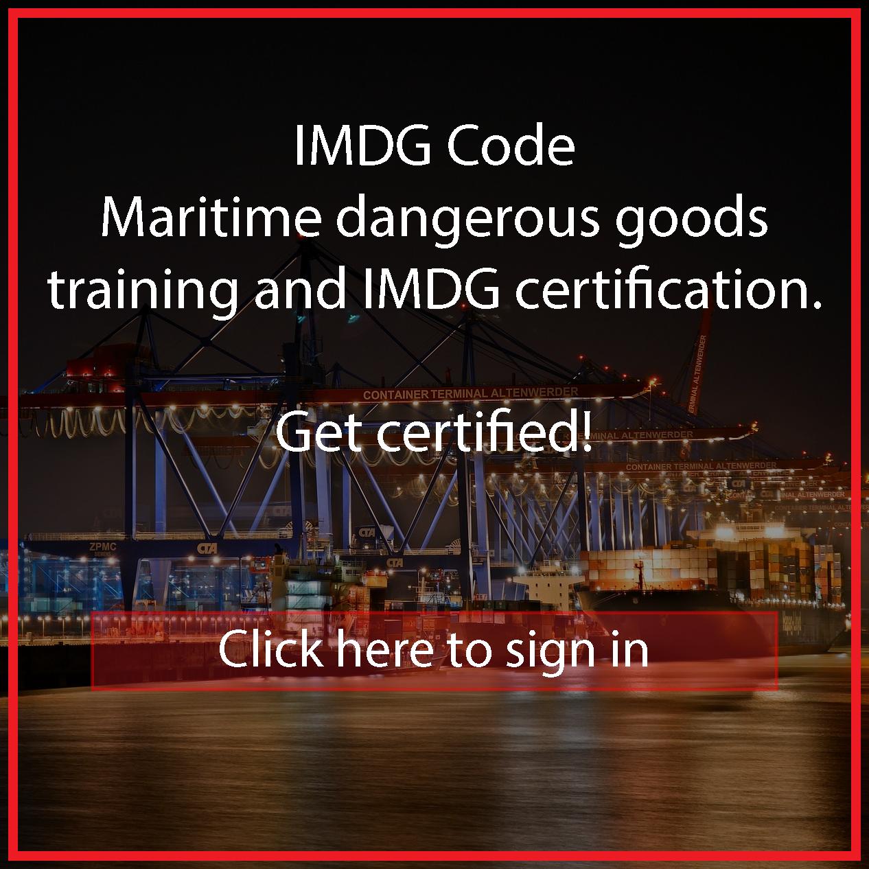 IMDG CODE Course EN | Safetynet Europe